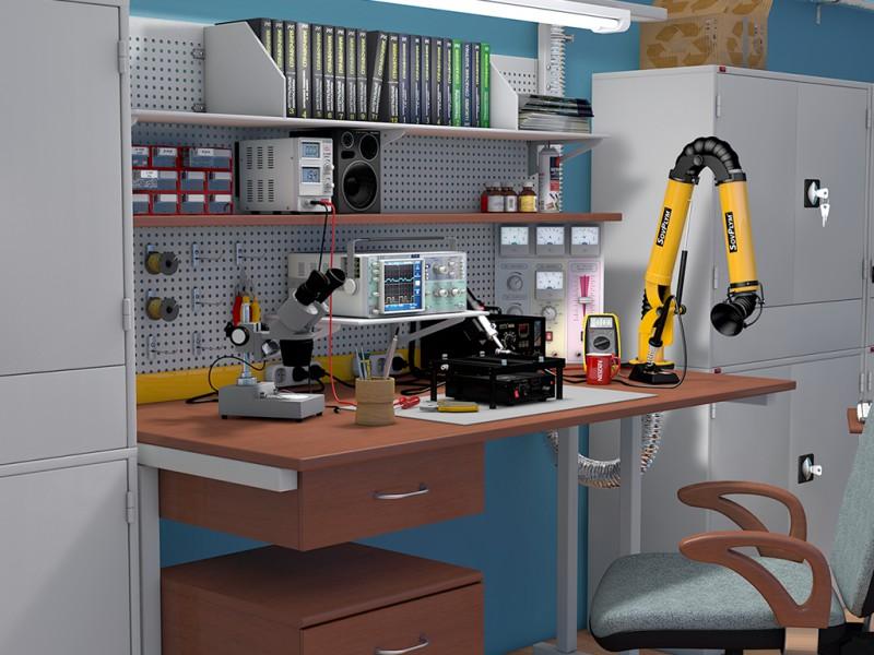 Моделирование ремонтных и производственных помещений.