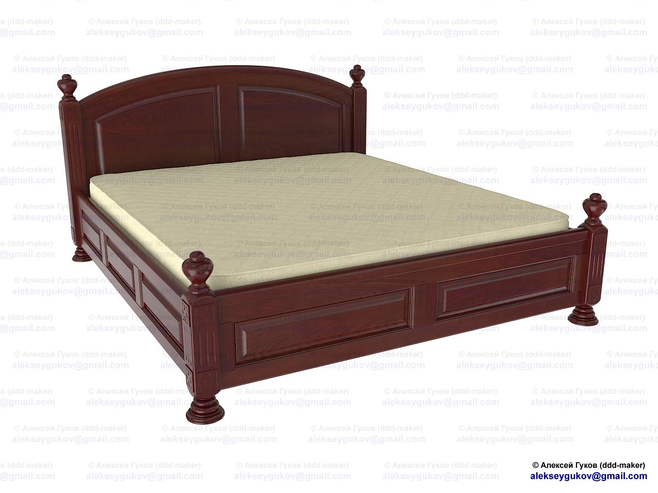 Кровать - моделирование по фотографии