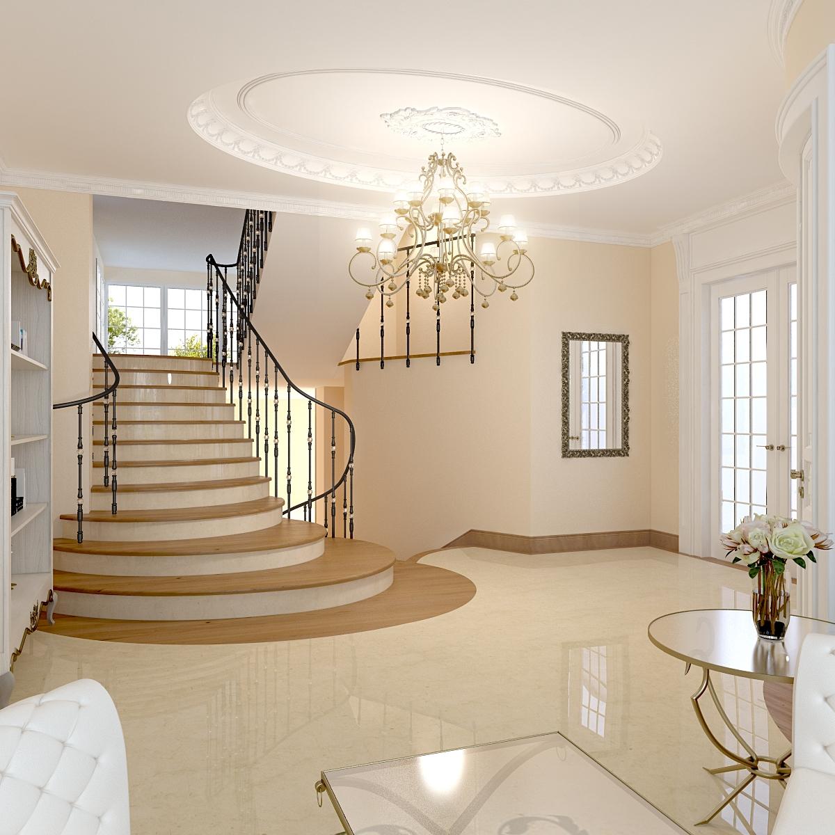 мир снизу дизайн холла в частном доме фото подвеска