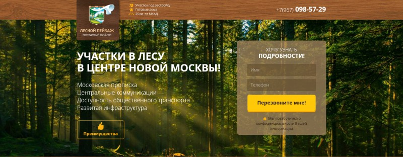 Лесной Пейзаж (landing Page)