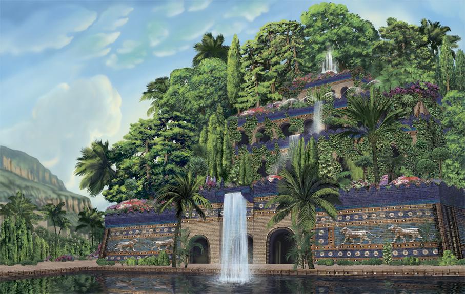 семь чудес света картинки сады семирамиды объявления