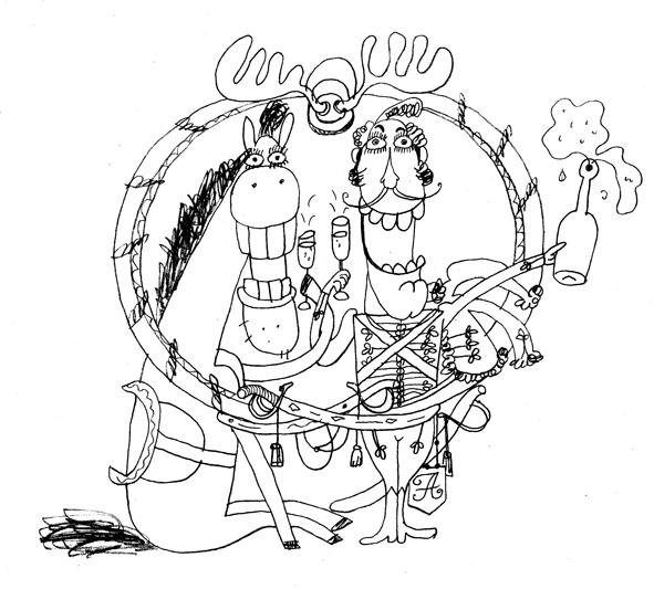 поручик Ржевский (рисунок для газеты)