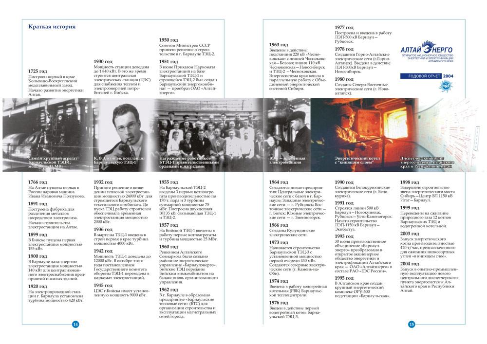 годовой отчёт алтайэнерго