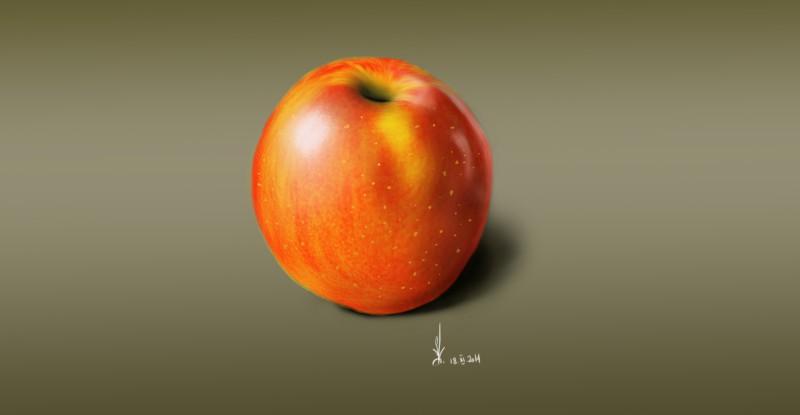 Яблоко .
