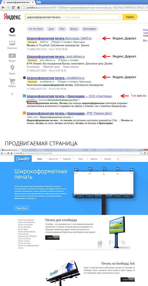 SEO продвижение сайта типографии
