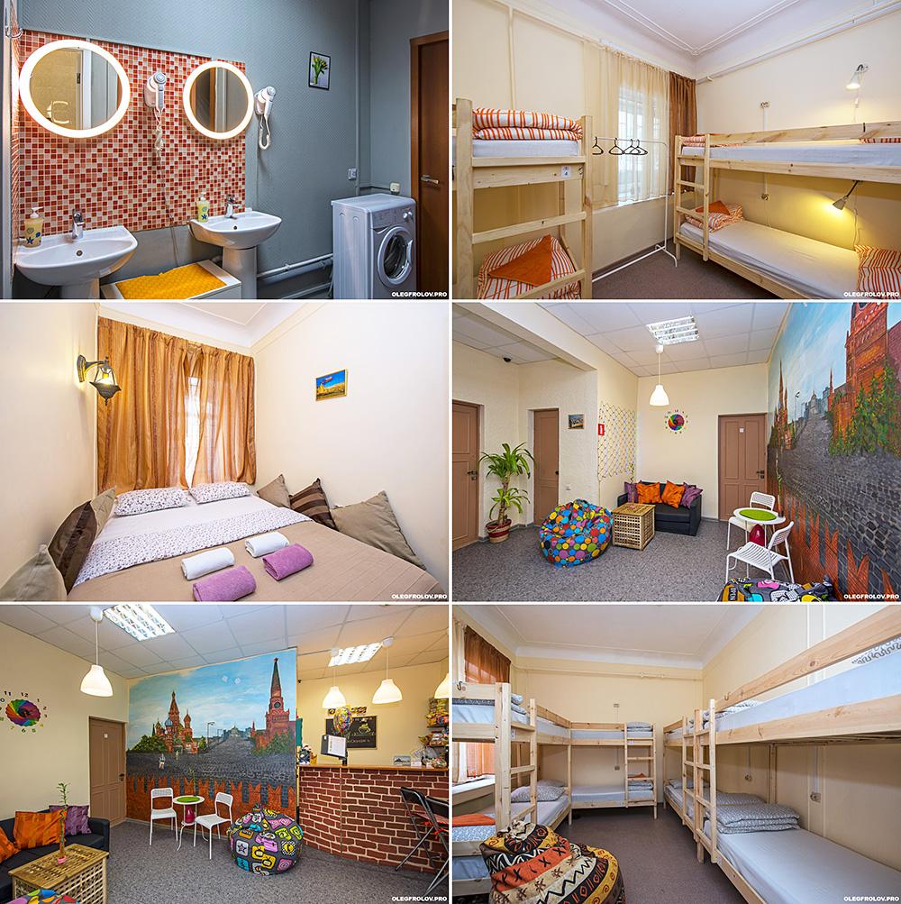 Интерьерная съёмка хостелов и общежитий