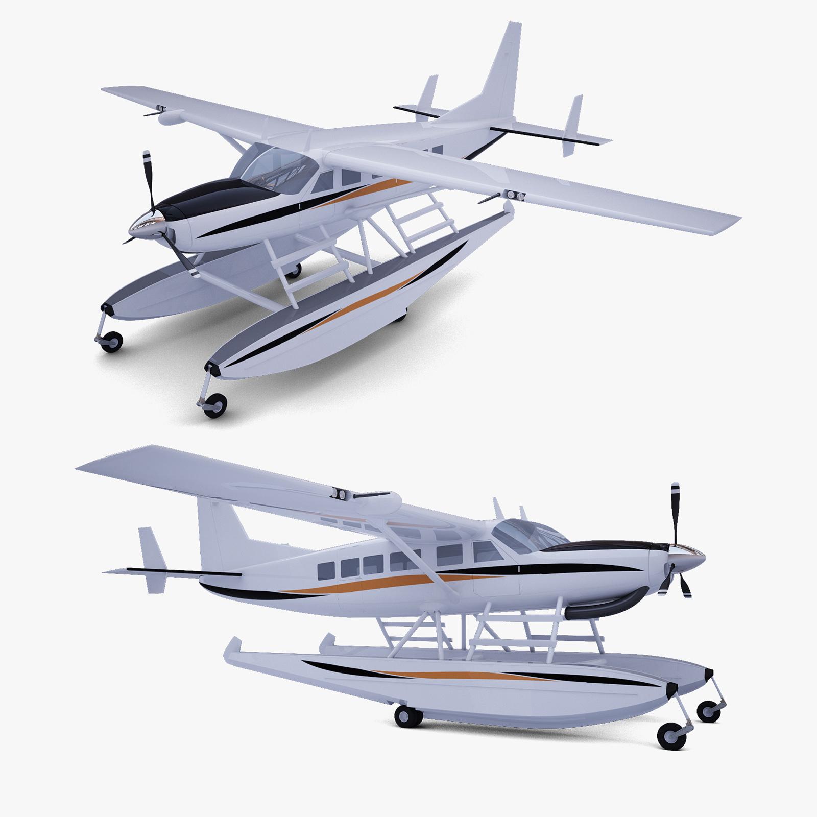 моделирование самолета амфибии