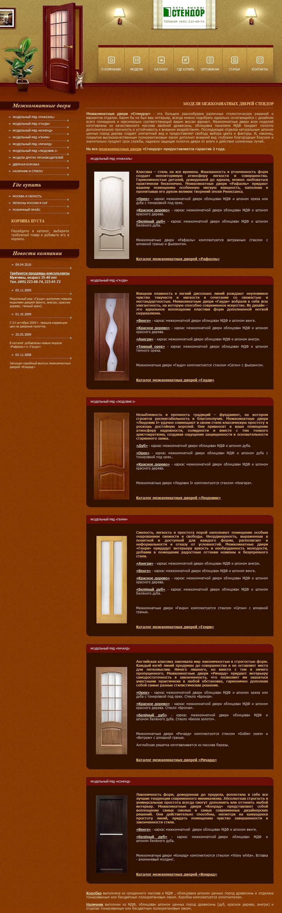 Описания межкомнатных дверей