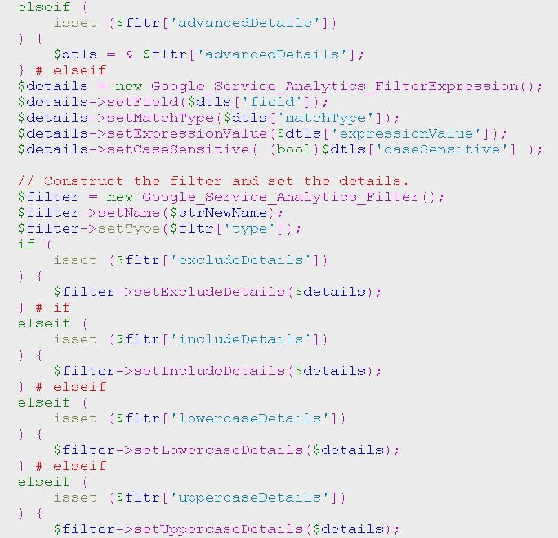 Analytics API. Копирование фильтров Analytics между аккаунтами