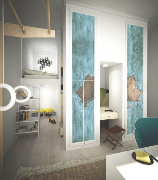 Решение для маленькой однокомнатной квартиры