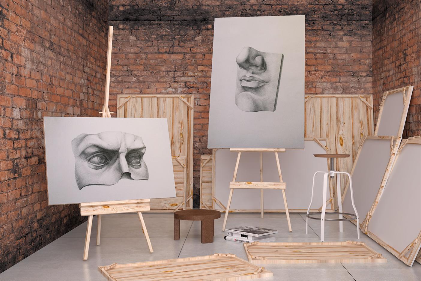 Рисунок. Части лица Давида