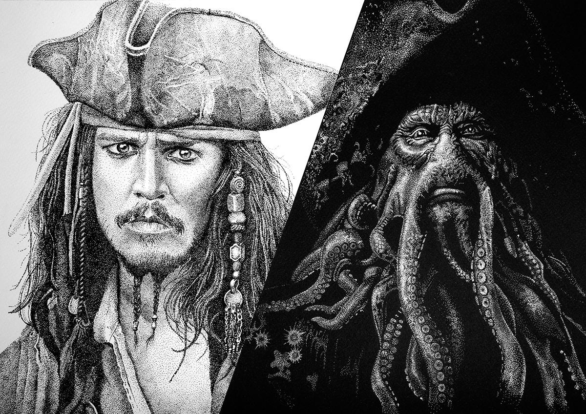 Раскраска пираты карибского моря черная жемчужина
