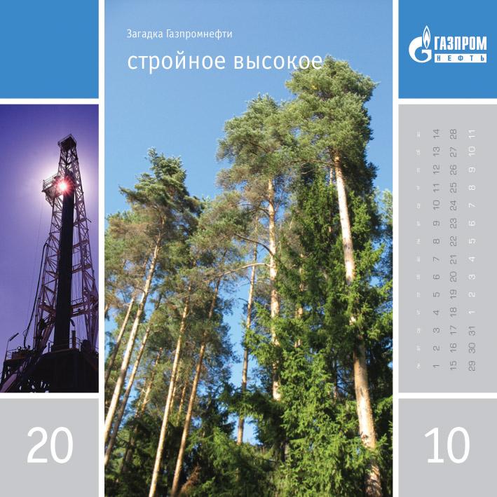 Загадка Газпромнефти. Календарь. Стройное, высокое