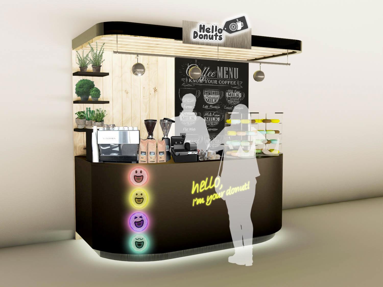 Дизайн точки по продаже кофе