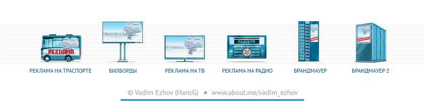 Иконки для сайта рекламного агентства