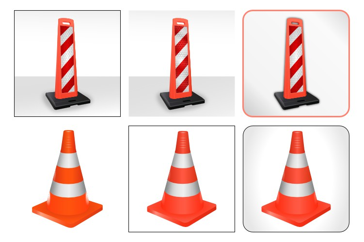 Иконки дорожных знаков (векторный рисунок)