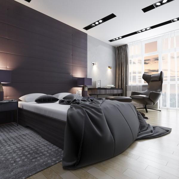 Спальня в квартире холостяка
