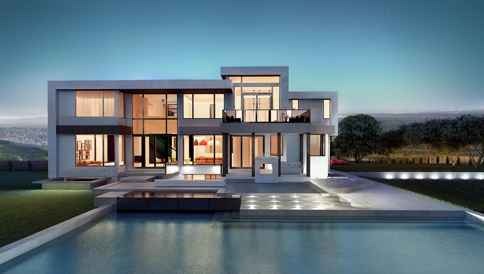 Villa Modern - pool look