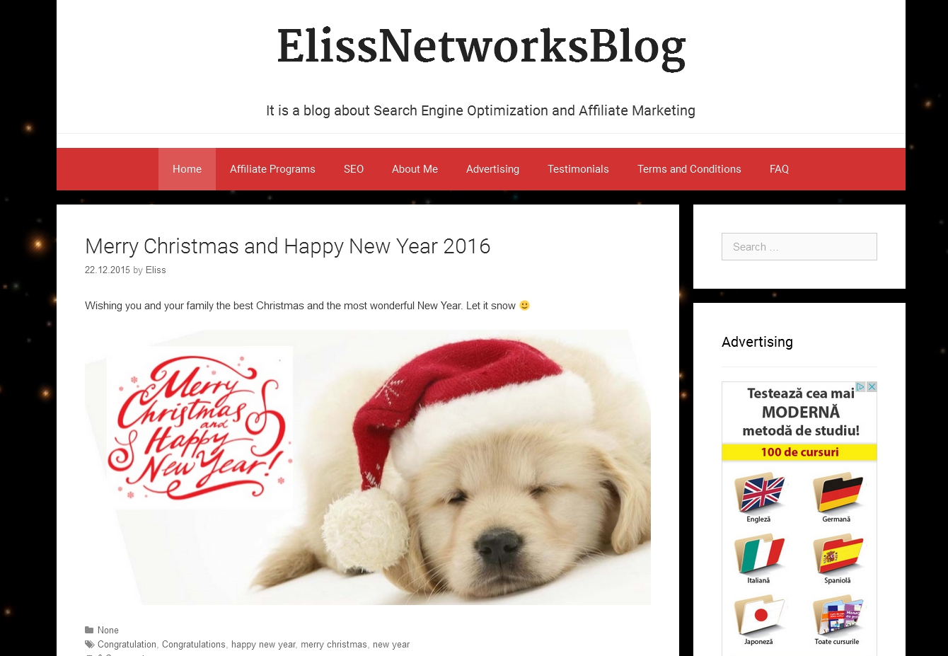 Elissnetworksblog.com - Blog about affiliate marketing and seo