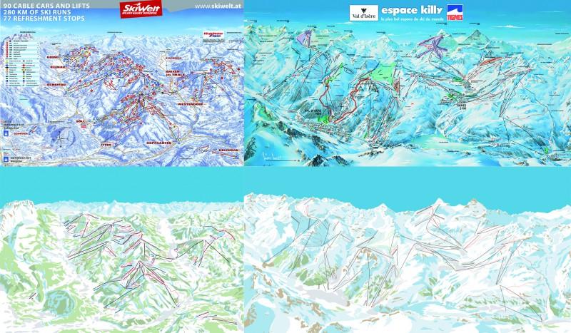 Векторизация горнолыжных схем