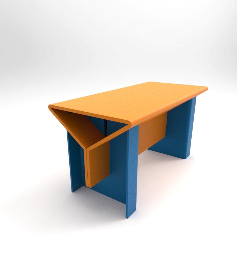 Стол из гофркартона или пластика разборный.