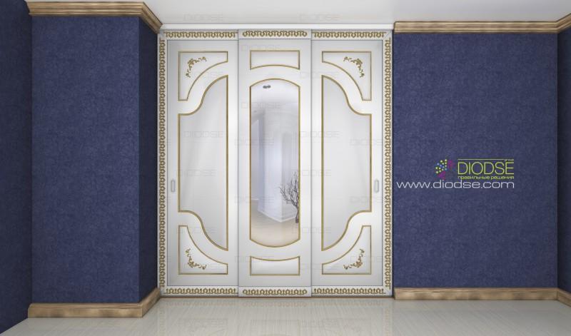 Дизайн дверей шкафа-купе под заказ