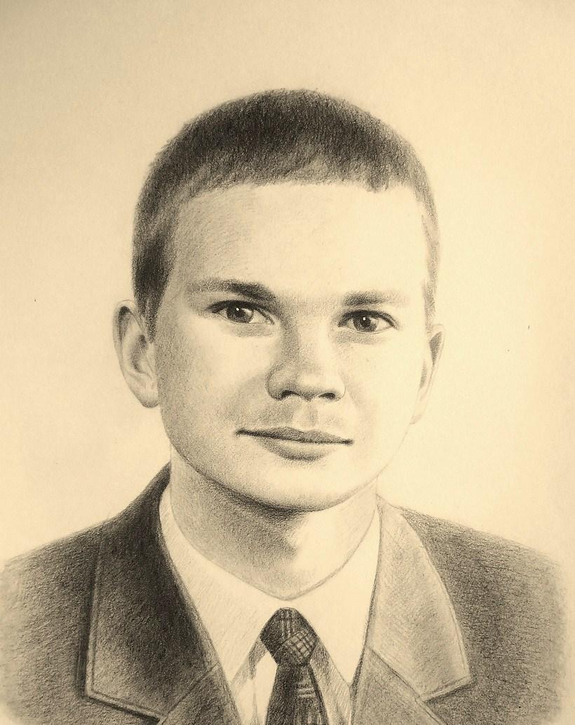 Портрет ретушным карандашом