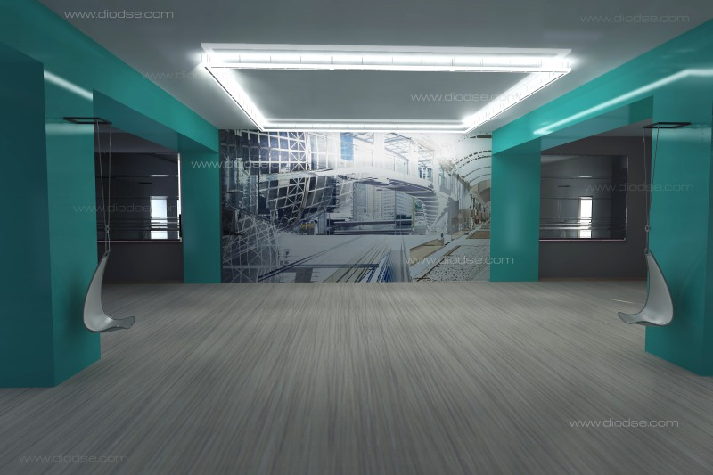 разработка дизайна интерьера холла многофункционального центра