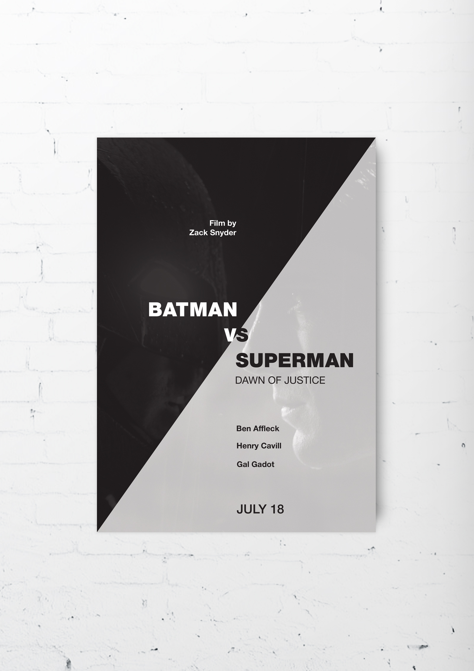 "постер ""Batman VS Superman"""