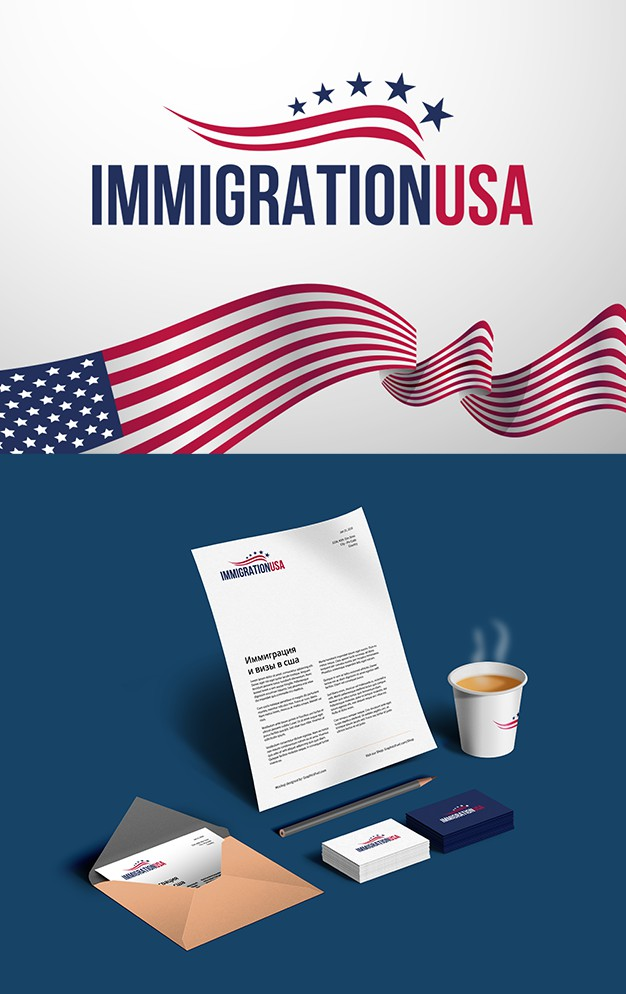 Логотип для сайта immigrationusa.ru