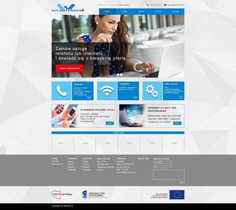 Дизайн сайта интернет-провайдера Wlantech
