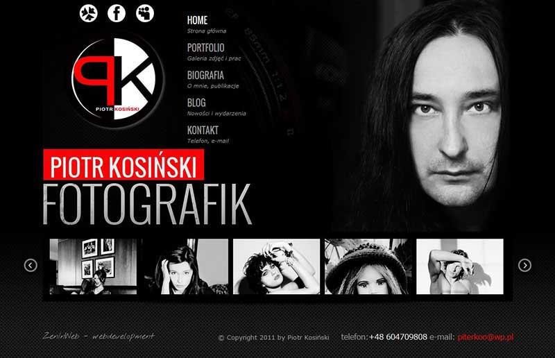 Дизайн сайта-портфолио фотохудожника Петра Косинского