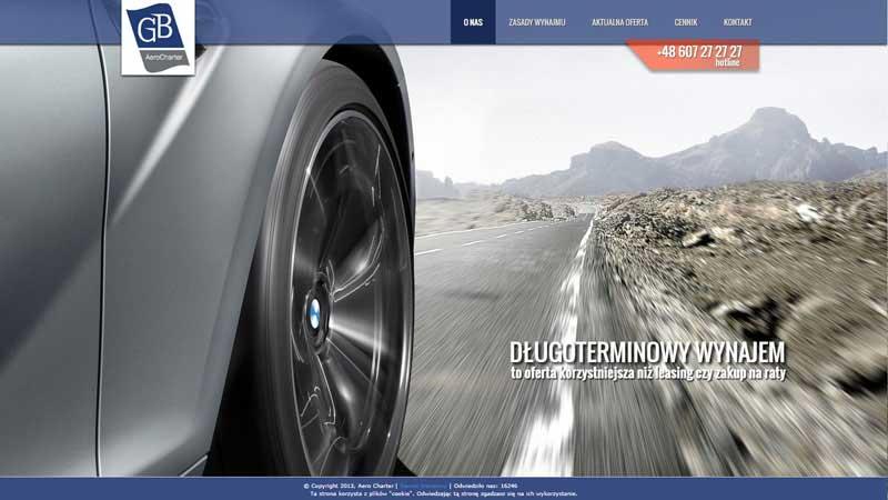 Дизайн сайта компании по аренде авто класса Люкс