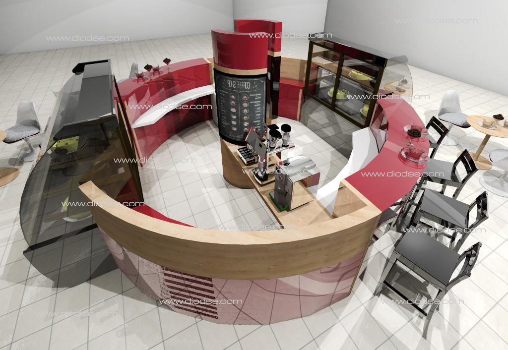 Дизайн проект кофейни в ТЦ