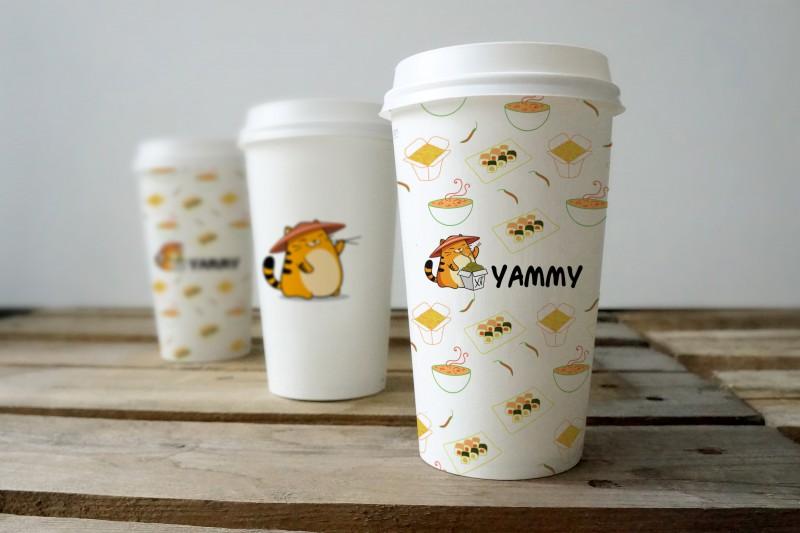 """Брендирование для франшизы доставки еды """"Yammy"""" г. Москва"""