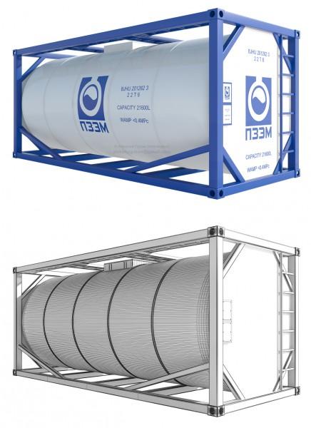 Моделирование и визуализация танк-контейнера