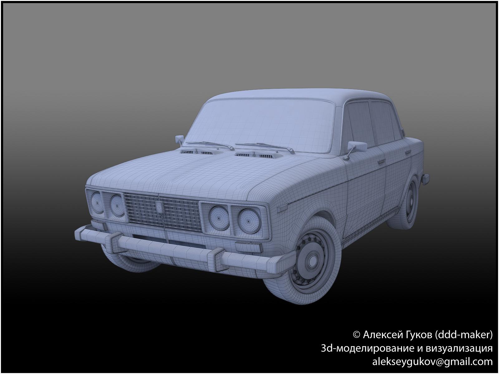 3d-модель ВАЗ-2106