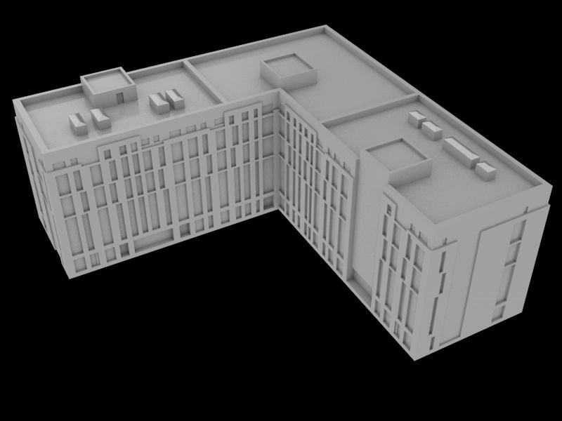 Дом под 3d печать для масштабного макета