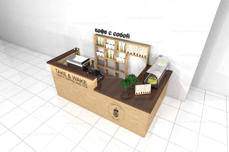 Дизайн проект полуострова для кофейни
