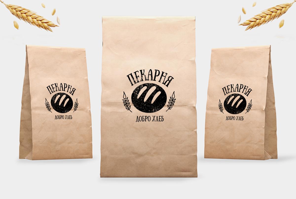 """Разработка логотипа и дизайна для Мини - пекарни """"ДоброХлеб"""" г."""