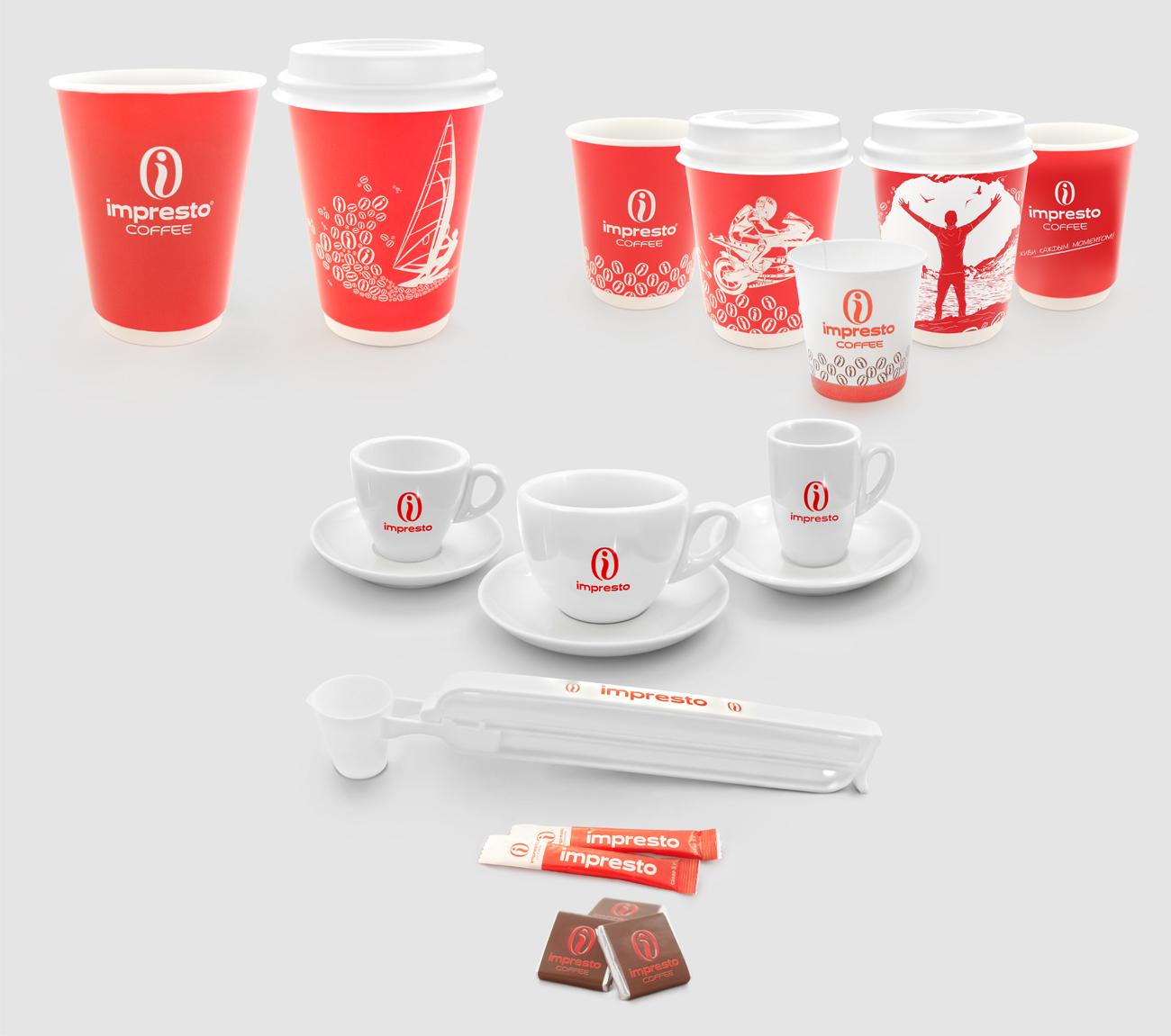Предметная фотография кофейных аксессуаров IMPRESTO