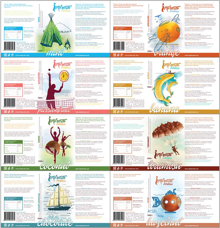 Дизайн этикеток для топпингов