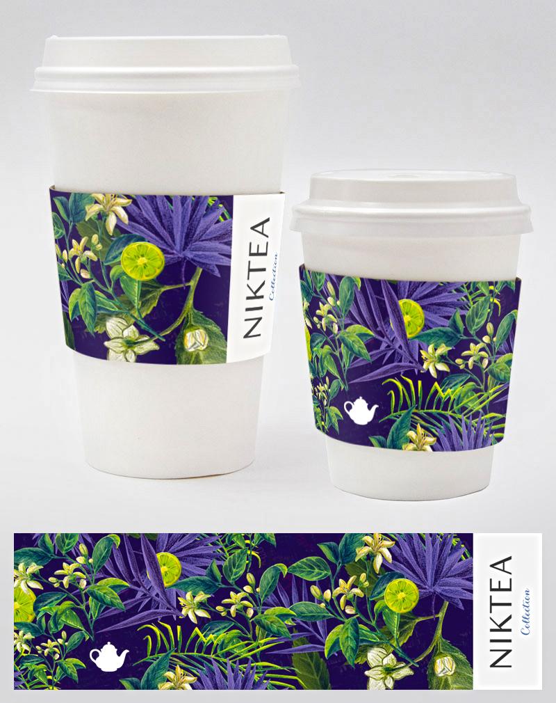 Дизайн рукава на стакан для чая