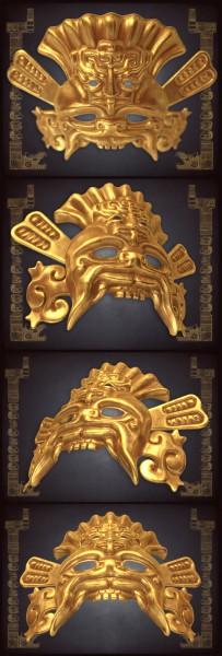 Маска жреца майя