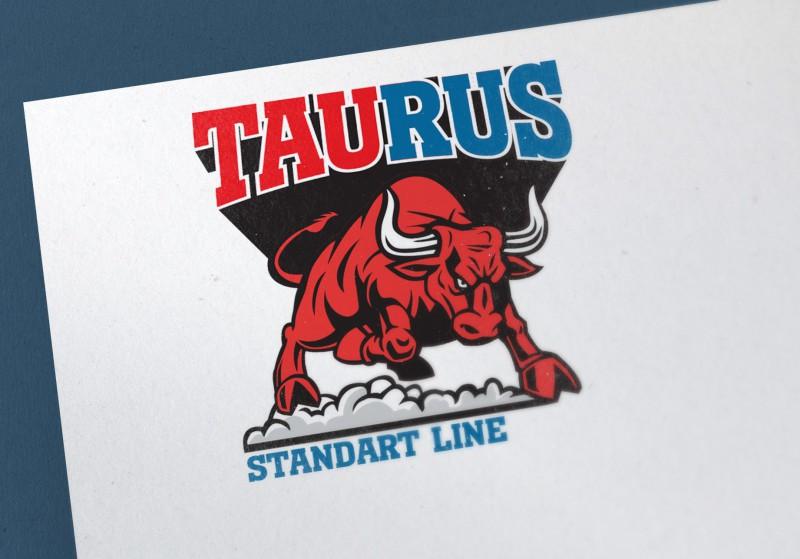 """Логотип производителя спортивной экипировки """"Taurus"""""""