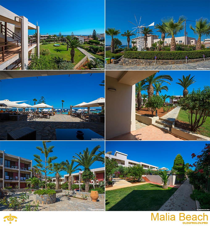 Съемка курорта и территории Malia Beach