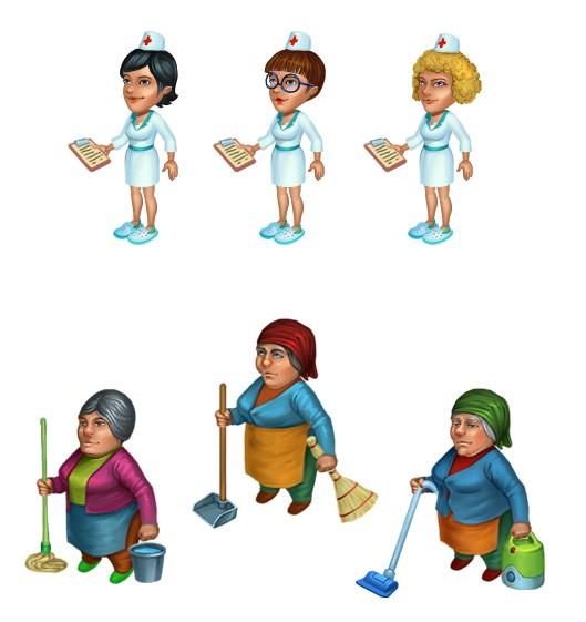 Персонал для игры Городская больница