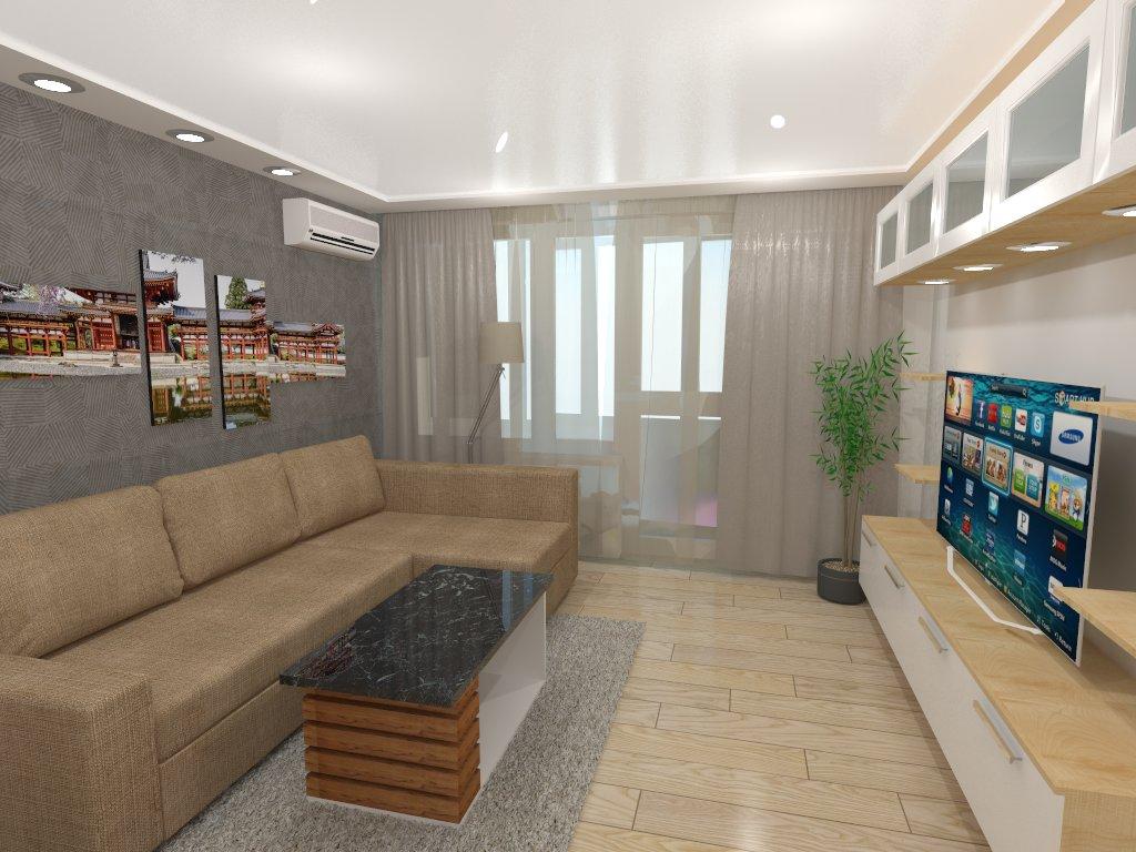 Гостинная в 2х комнатной типовой квартире