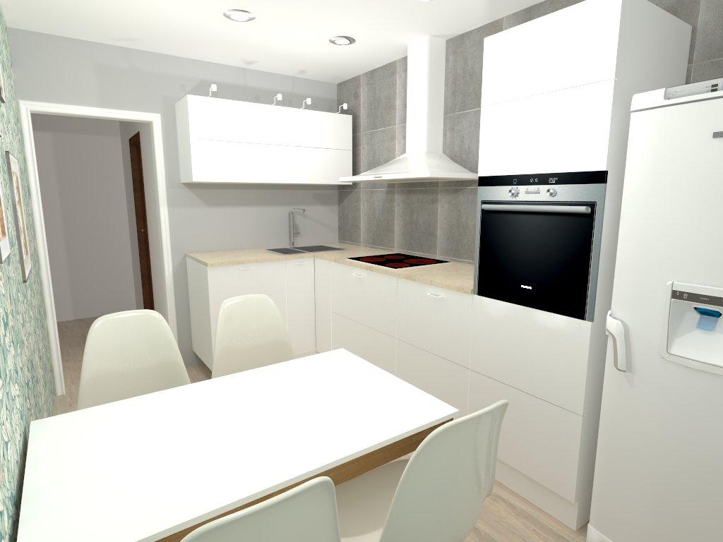 кухня в сдерженном стиле.