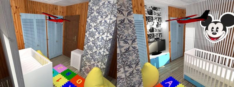 Дачная детская комната на 8м2